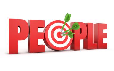3d target people