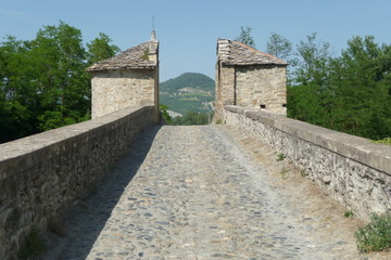 The medieval bridge of San Rocco in Spigno Monferrato