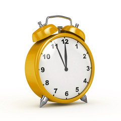 3d Alarm Clock Perspective (Yellow) - isolated