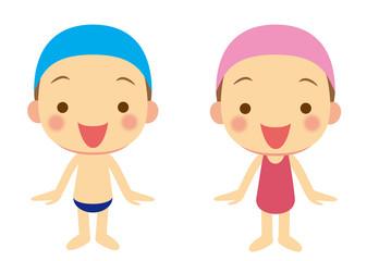 水着の子ども