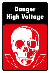Plate danger of high voltage
