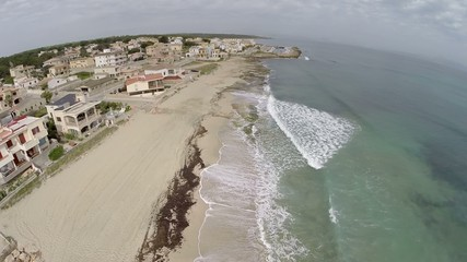 Living directly at the Mediterranean Coastline  - Aerial Flight