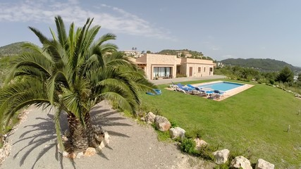 Finca with Palms & Private Pool - Aerial View, Mallorca