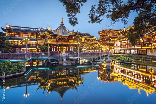 Plakát, Obraz Yuyuan Gardens in Shanghai, China