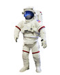Leinwanddruck Bild - nasa astronaut pressure suit with galaxi space reflection on mas
