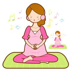 Prenatal maternal gymnastics mascot. Marriage and Parenting Char