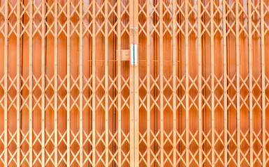 The old orange steel door