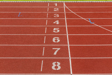 Athletics Track Lane Numbers