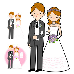 The Newlyweds Mascot wedding. Marriage and Parenting Character D