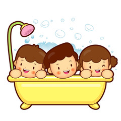 Entertain the children a bath. Marriage and Parenting Character