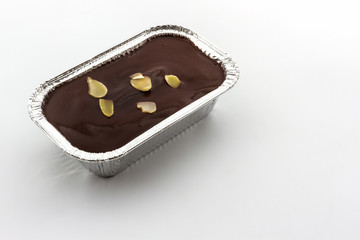 Foil box of Chocolate cake