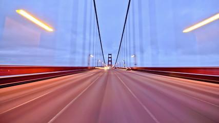 SF City Driving Time Lapse Golden Gate Bridge