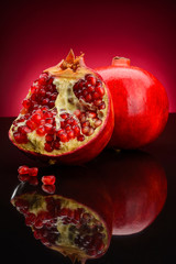 granate on a dark red background