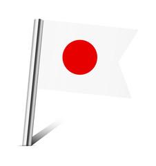 Japan flag pin