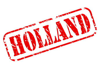 HOLLAND red stamp text on white