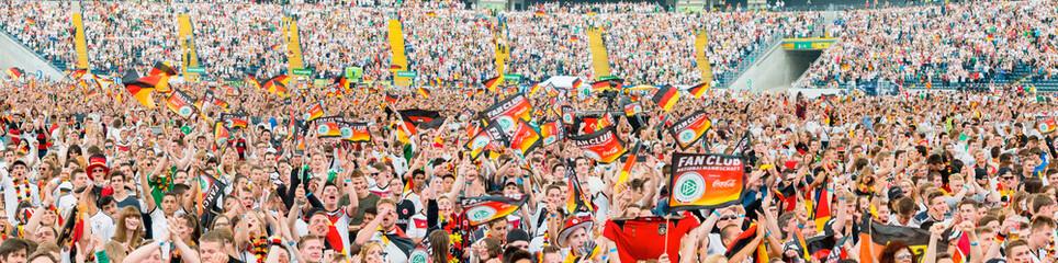 Deutsche Fußball-Fans Public Viewing