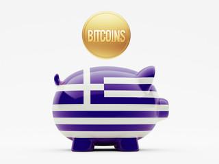 Greece Bitcoin Concept