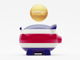 Costa Rica. Bitcoin Concept