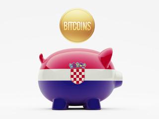 Croatia. Bitcoin Concept