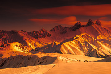 Amazing landscape and famous ski resort,Les Sybelles,France