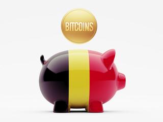 Belgium Bitcoin Concept
