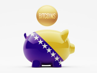 Bosnia and Herzegovina. Bitcoin Concept