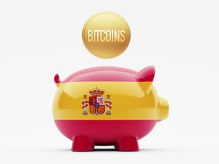 Spain Bitcoin Concept