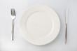 Leinwandbild Motiv 白い皿