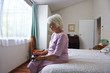 lonely granparent alone in bedroom