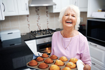 Happy freshly baked muffins