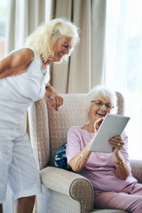 Laughing wifi grannies