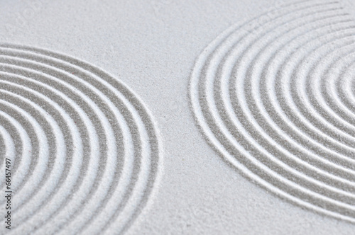 canvas print picture Sand, Kreise
