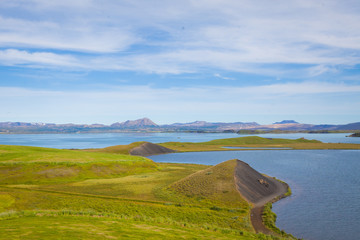 beautiful vibrant summer landscape of famous place tourist icela