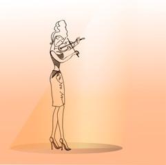 Girl playing the violin.1