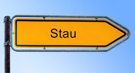 Strassenschild 6 - Stau