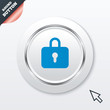 Lock sign icon. Locker symbol.