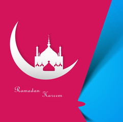 Beautiful Ramadan Kareem colorful card vector