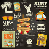 surfing poster Chalkboard Design