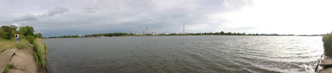 Refinery oil production place in Gdansk, Poland.