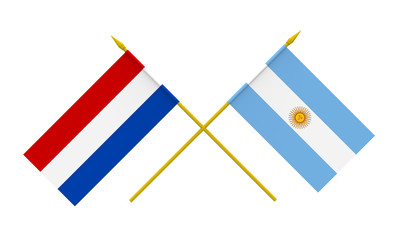 Flags, Argentina and Netherlands