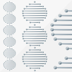 dna background, molecule by triangles, polygon