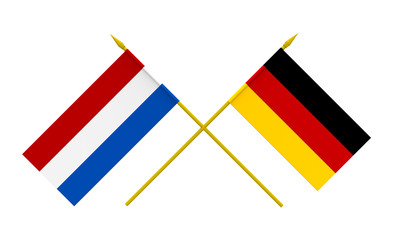 Flags, Germany and Netherlands