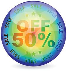 fifty percent discount