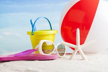 beach accesories, summer background