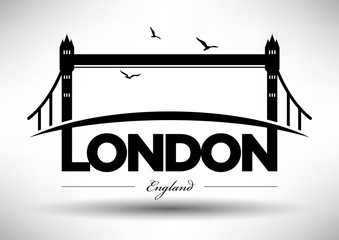 City of London Typographic Skyline Design