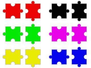 Puzzleteile - Parteienlandschaft - mögliche Koalitionen