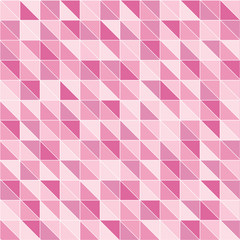 Mosaic pattern of pink triangles