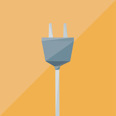 electric plug icon by triangles, polygon vector illustration