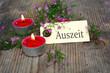 Auszeit - Teelichter mit Blüten