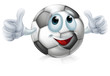 Cartoon soccer ball character